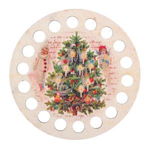 RTO Garenhouder multiplex - Rond opdruk Kerst - RTO