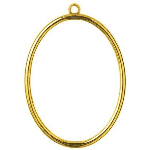 Vervaco Kunststoflijst goudkleurig ovaal (p.1st)