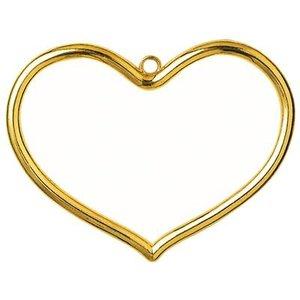 Vervaco Kunststoflijst goudkleurig hart (p.1st)