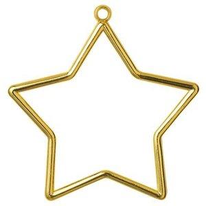 Vervaco Kunststoflijst goudkleurig ster (p.1st)