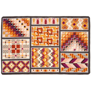 Vervaco Kruissteektapijt kit Geometrische vlakken