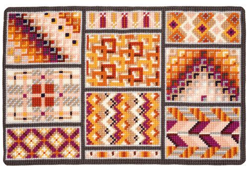 Vervaco Kruissteek: Tapijt Geometrische vakken