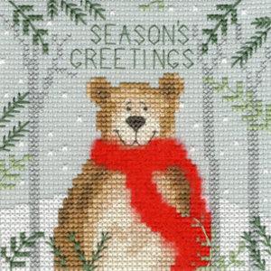 Bothy Threads Kerstkaart Bothy Threads - Xmas Bear