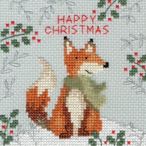 Bothy Threads Kerstkaart Bothy Threads - Xmas Fox