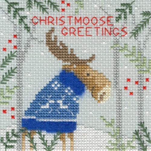 Bothy Threads Kerstkaart Bothy Threads - Xmas Moose