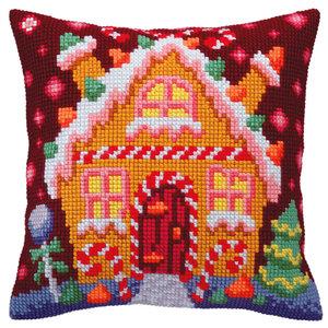 Collection d'Art Kussenborduurpakket Gingerbread Lodge - Collection d'Art