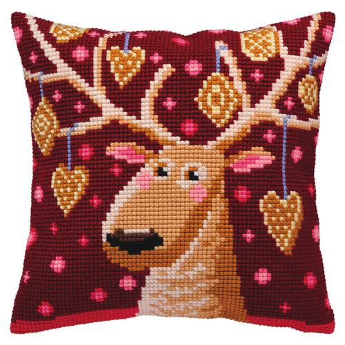 Collection d'Art Kussenborduurpakket Christmas Gingerbreads - Collection d'Art