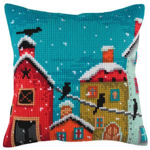 Collection d'Art Kussen borduurpakket Winter Morning - Collection d'Art