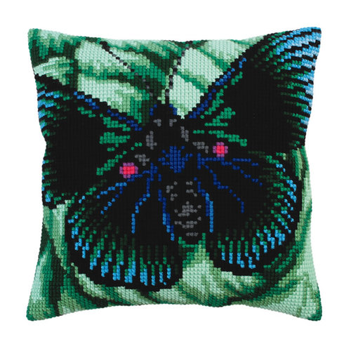 Collection d'Art Kussenborduurpakket Butterfly - Collection d'Art