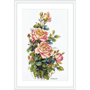 Merejka Borduurpakket Yellow Roses  - MEREJKA