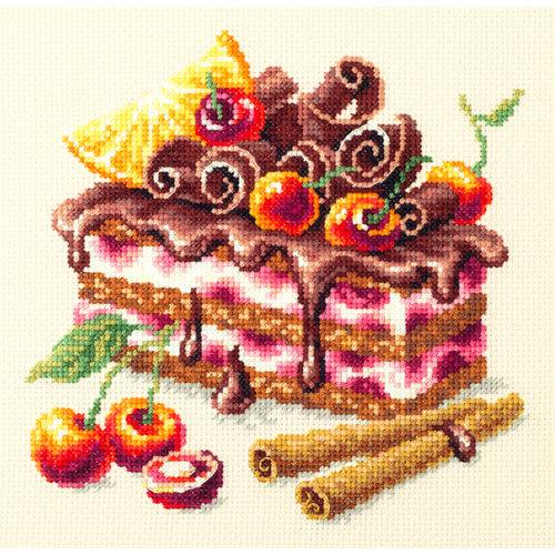 Chudo Igla Borduurpakket Cherry Cake - Chudo Igla