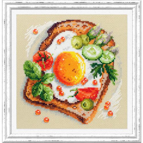 Chudo Igla Borduurpakket Fried Eggs Toast - Chudo Igla