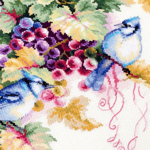 Chudo Igla Borduurpakket Blue Jay and Grapes - Chudo Igla