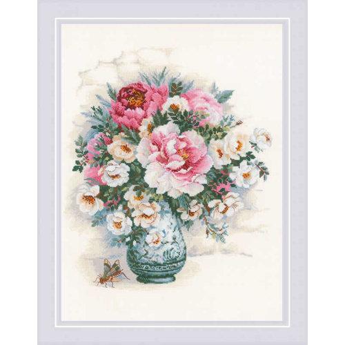RIOLIS Borduurpakket Peonies and Wild Roses - RIOLIS