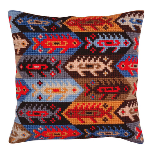 Collection d'Art Kussenborduurpakket Fish - Collection d'Art