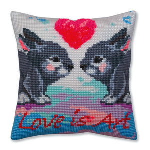 Collection d'Art Kussenborduurpakket Love is Art - Collection d'Art