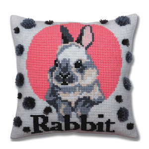 Collection d'Art Kussenborduurpakket Rabbit - Collection d'Art