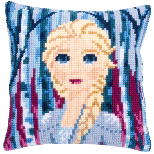 Vervaco Kruissteekkussen kit Disney Frozen 2 Elsa