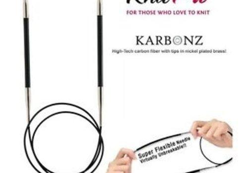 Knitpro Karbonz Rondbreinaalden 80 cm - 2 - 6.5 mm