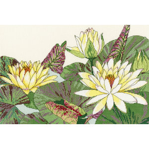 Bothy Threads Japanese Woodblock Prints - Water Lily Blooms