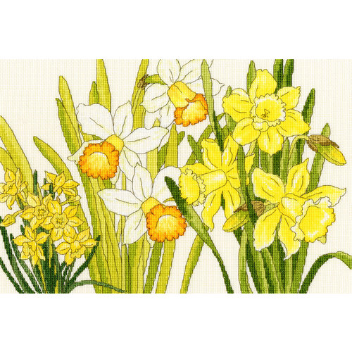 Bothy Threads Japanese Woodblock Prints - Daffodil Blooms