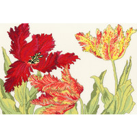 Japanese Woodblock Prints - Tulip Blooms