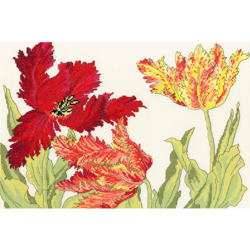 Bothy Threads Japanese Woodblock Prints - Tulip Blooms