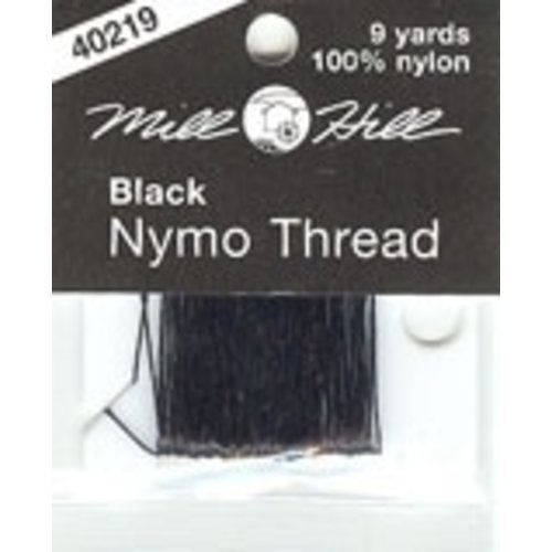 Mill Hill Black Nymo Thread