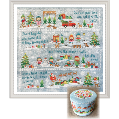 Tiny Modernist Patroon 2019 Holiday SAL: Christmas Village Cross Stitch Pattern