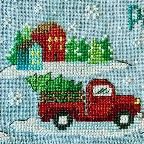 Tiny Modernist 2019 Holiday SAL: Christmas Village Cross Stitch Pattern
