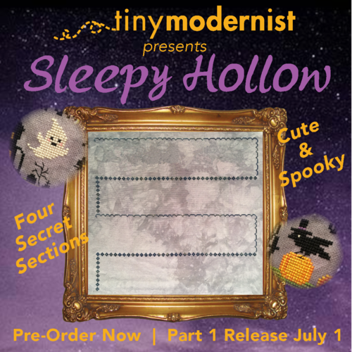 Tiny Modernist 2019 Mystery SAL: Sleepy Hollow Cross Stitch Pattern