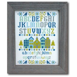 Tiny Modernist Borduurpatroon Village Sampler