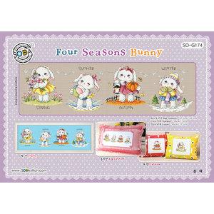 Soda Stitch Borduurpatroon Four Seasons Bunny