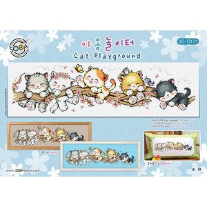 Soda Stitch Borduurpatroon Cat Playground