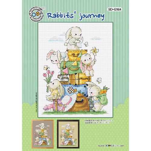 Soda Stitch Borduurpatroon Rabbits' journey