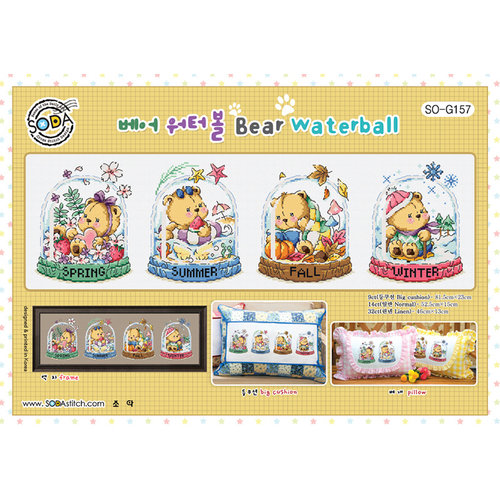 Soda Stitch Borduurpatroon Bear Waterball