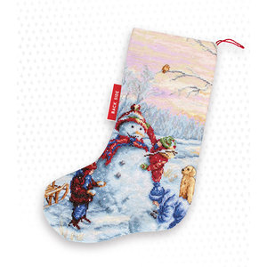 Luca-S Borduurpakket Christmas Stocking Snowman