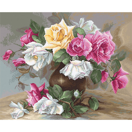 Luca-S Borduurpakket Vase with Roses