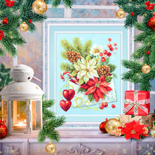 Chudo Igla Borduurpakket Merry Christmas! - Chudo Igla