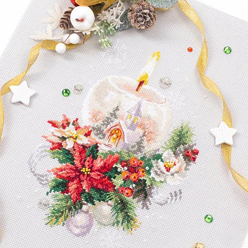 Chudo Igla Borduurpakket Christmas Candle - Chudo Igla
