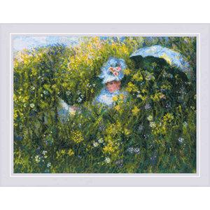 RIOLIS Borduurpakket In the meadow after C. Monet's painting
