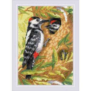 RIOLIS Borduurpakket Woodpecker