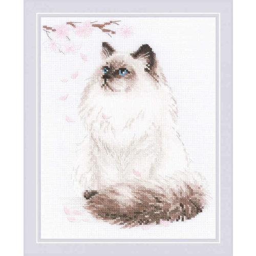RIOLIS Borduurpakket Meow-Zen