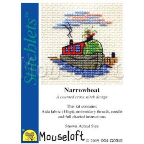 Mouseloft Borduurpakket Narrowboat - Mouseloft