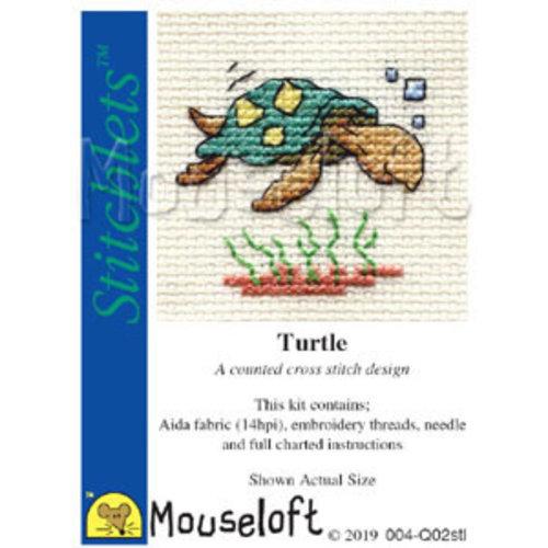 Mouseloft Borduurpakket Turtle - Mouseloft