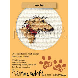 Mouseloft Borduurpakket Lurcher - Mouseloft