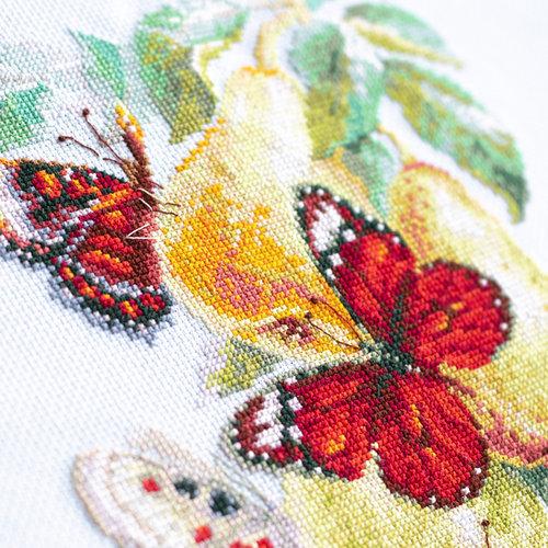 Chudo Igla Borduurpakket Butterflies and Pears - Chudo Igla