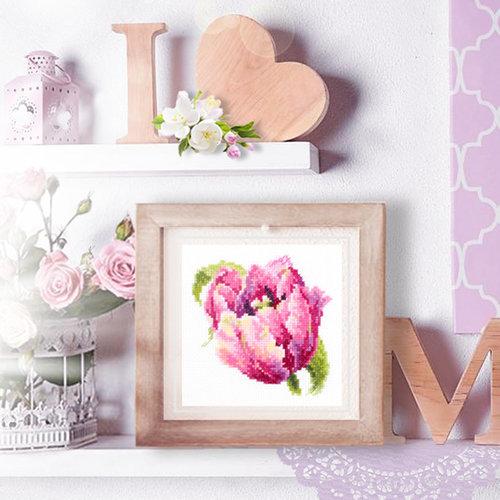 Chudo Igla Borduurpakket Pink Tulip - Chudo Igla