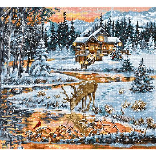 Luca-S Borduurpakket Snowy Cabin - Luca-S
