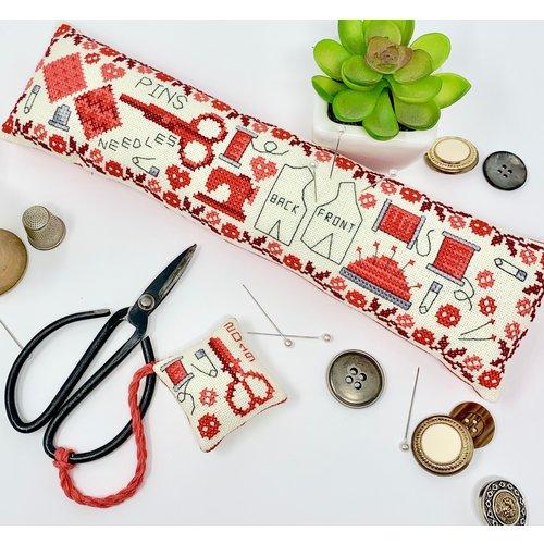 Tiny Modernist Borduurpatroon Vintage Sewing Set